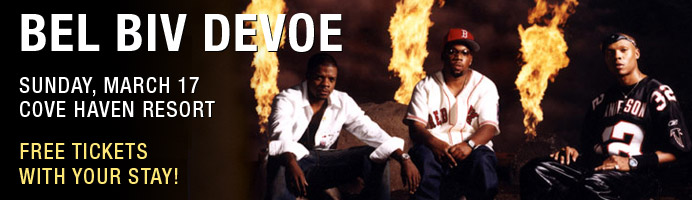 Station Avenue brings Bel Biv DeVoe to Cove Haven Resorts March 17.