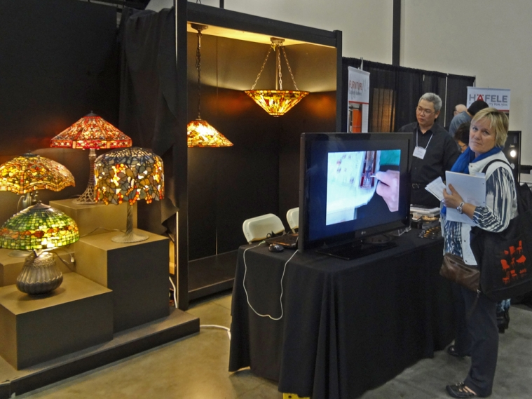 Interior designers are visiting TSG 1895 booth at ASID Orange County Expo