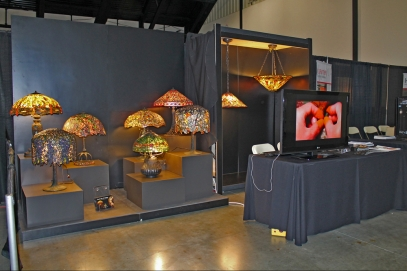 TSG 1895 displayed 9 of the popular Tiffany-style lamps at the ASID OC expo
