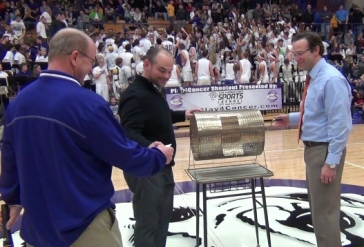 Tim Sanders and Craig Sanders Pull The Winning Ticket At The Jackson/Perry Game