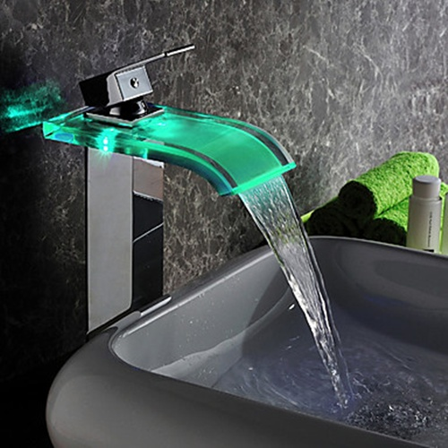Contemporary_LED_Waterfall_Hydroelectric_Power_Gla
