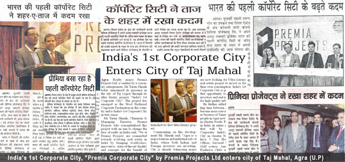 Premia Corporate City Announced in Agra