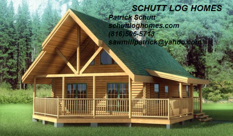 Schutt Log Homes and Mill Works,1200 sq ft chalet, Solid Oak Log Cabin Kit