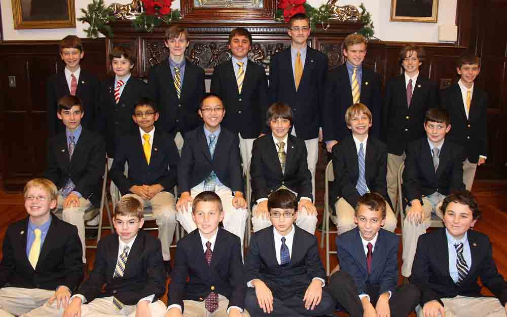 Twenty Devon Prep 7th and 8th graders were inducted into the NJHS.