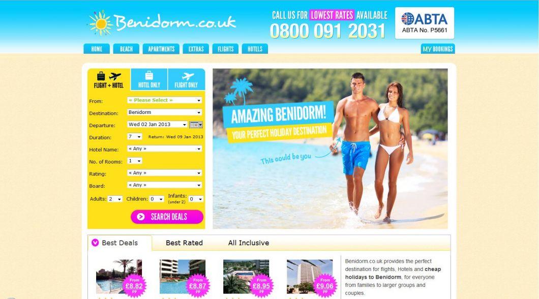 benidorm holidays with benidorm.co.uk