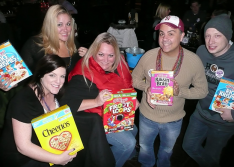 Festa Parties Participants Donate Cereal to Lakeview Pantry