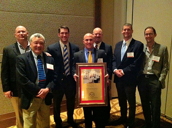 The Beck Group accepts the AGC Outstanding Construction Award