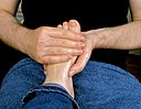 Relaxing healing massage