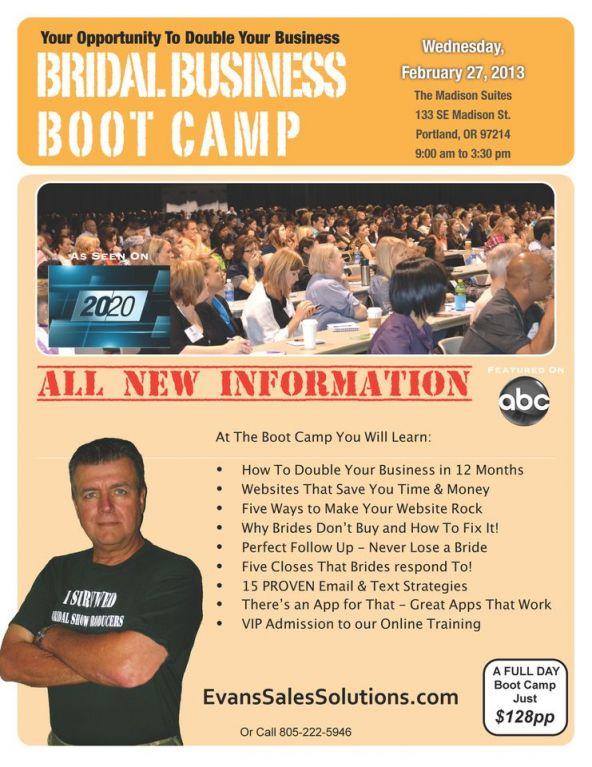Portland Bridal Business Boot Camp