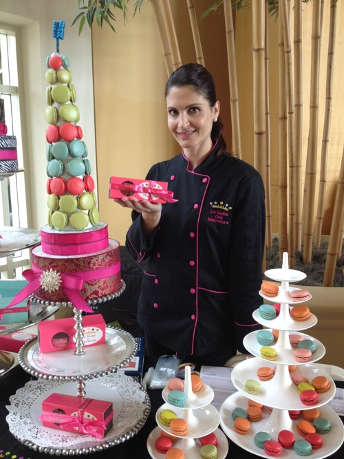 Chef Grace Abdo showcases French Macarons at Williams-Sonoma on 2.10.13