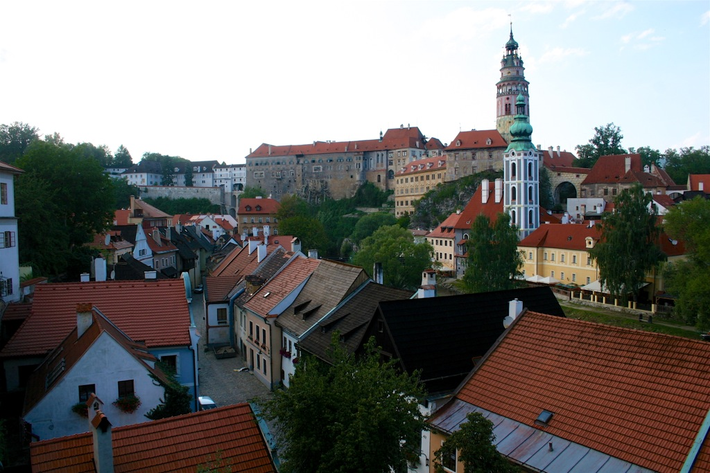 The view across Cesky Krumlov