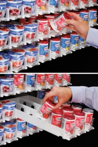 FFR-DSI Gravity Feed Merchandiser for Yogurt