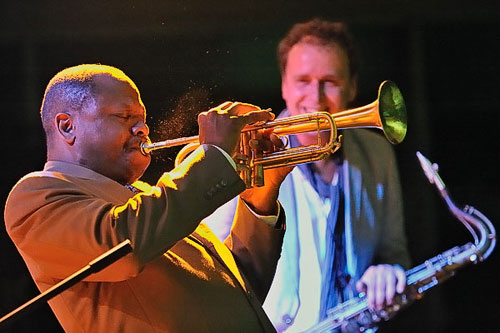Trumpeter Leroy Jones, photo by Andreas Rogocz.
