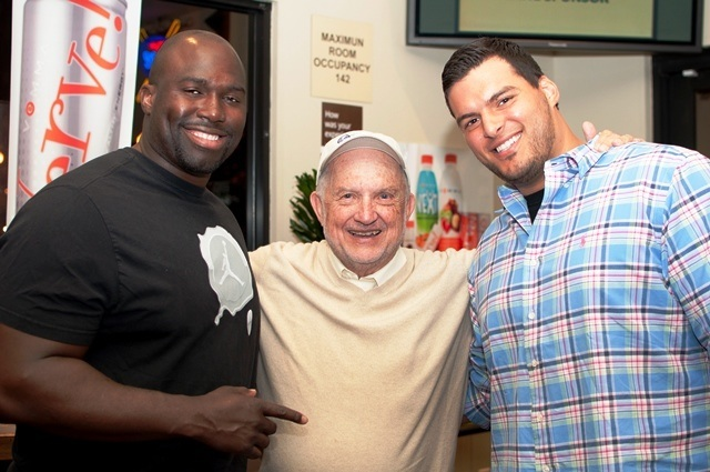 Jacques Cesaire, Dr. Charles Camarata and Luis Castillo at the 2012 Bowling Bash
