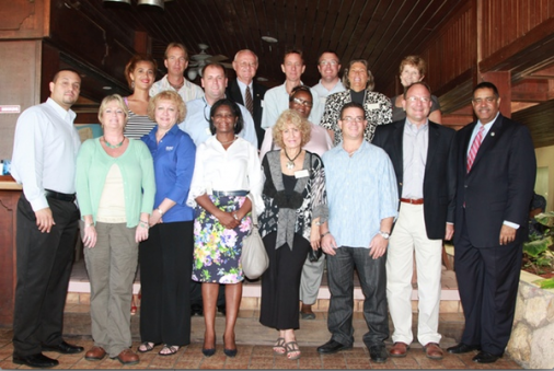2012 Chamber Board of Directors with Gov. John P. de Jongh, Jr.