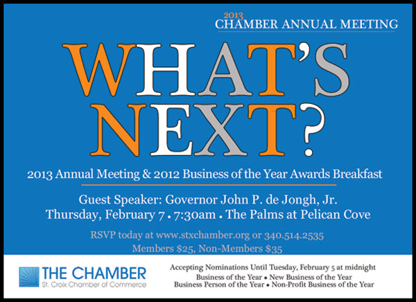 The Chamber of Commerce Discusses What's Next for 2013 at Annual Meeting Feb. 7