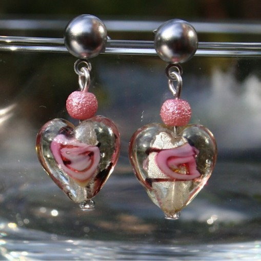 Hearts and Roses Hypoallergenic Earrings