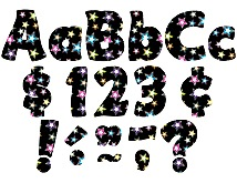 "TCR5374 Fancy Stars Funtastic 4"" Letters Combo Pack"