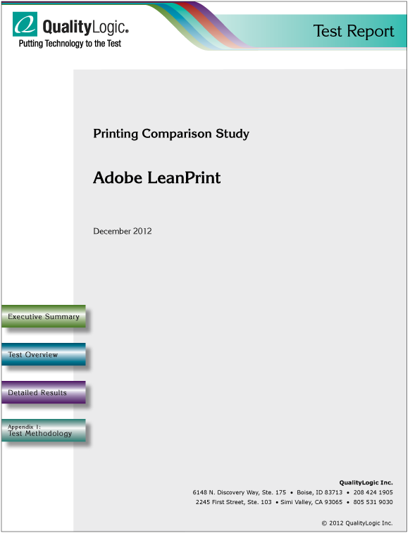 Adobe LeanPrint Comparison Study