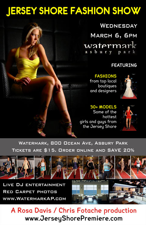 Jersey Shore Fashion Show flyer