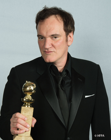 Quentin Tarantino's chin promises a good and long life. (Photo: HFPA)