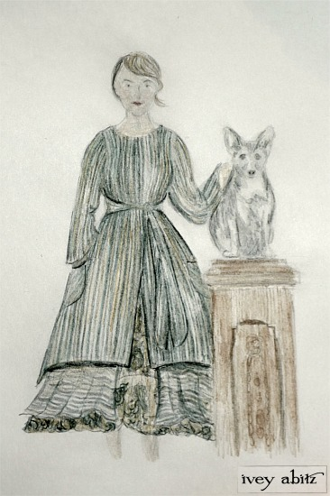 A watercolor from the Ivey Abitz Collection, Look of Loyalty.