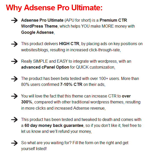 Adsense Pro Ultimate review Ctr Wp Theme - Make Mo