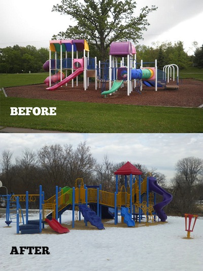 Minnetonka's Mayflower Park has a new playground that saved the city $15,000.