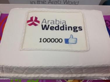 AW 100k FB cake