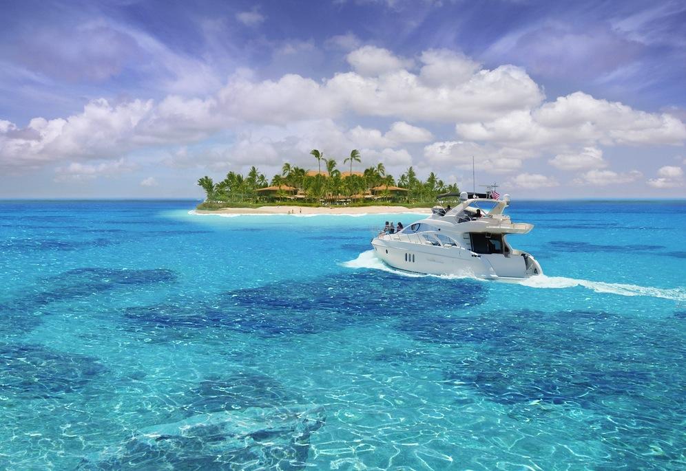 Boat to Private Island