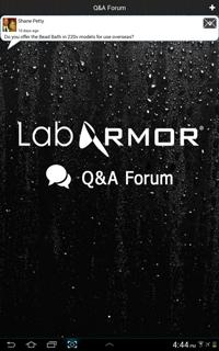 Lab Armor Mobile App Q&A Forum