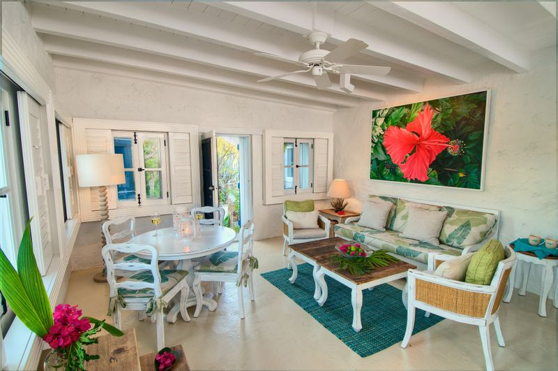 Guana Island Cottage Interior