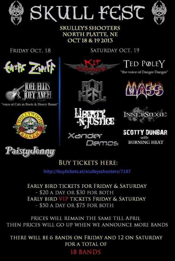 Skull Fest will feature 18 bands over 2 nights this October