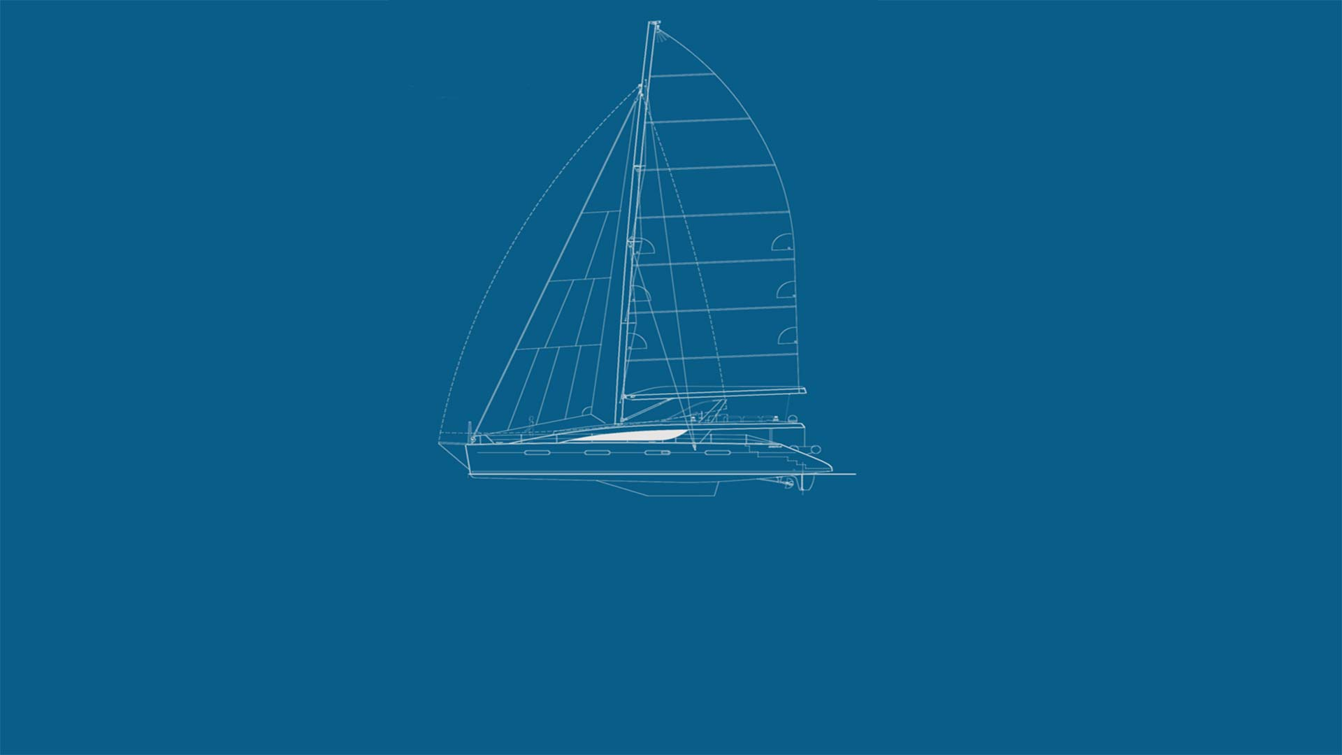Yacht Zingara Drawing