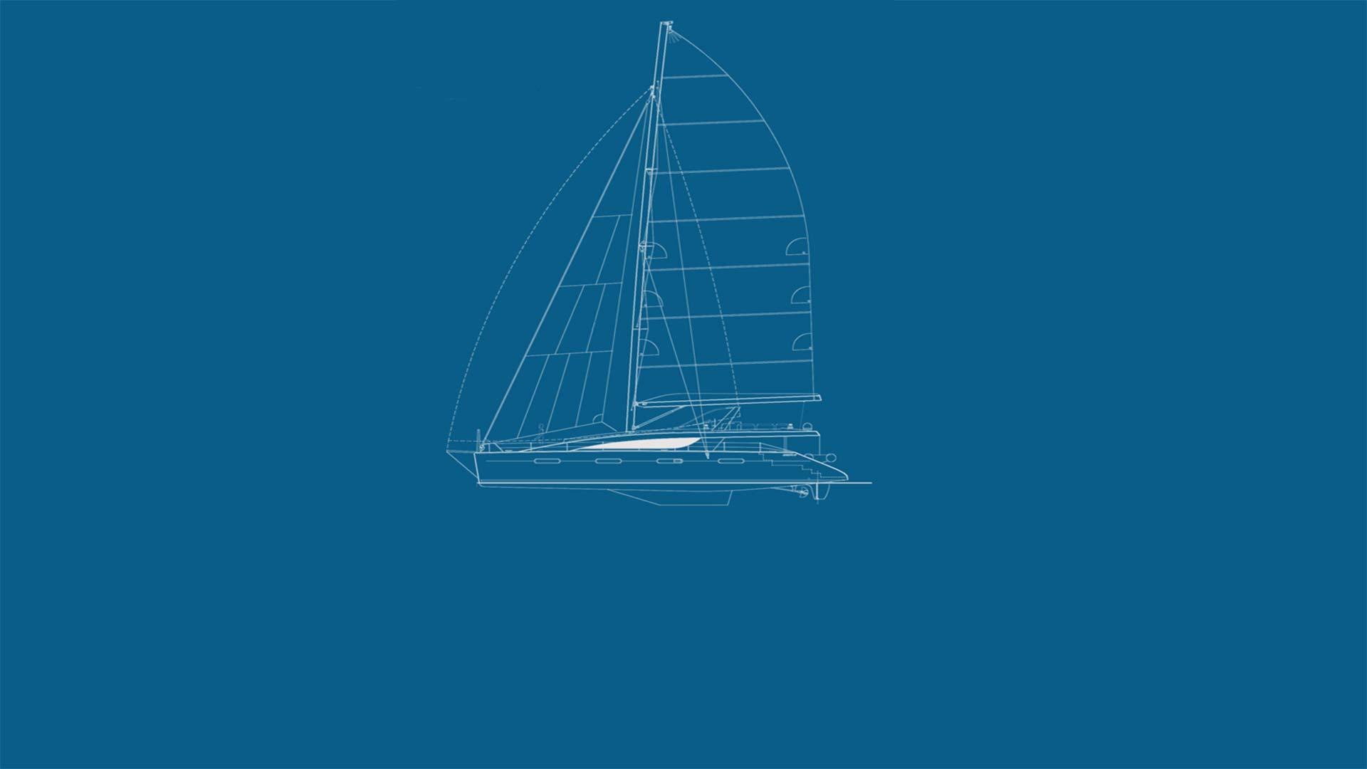 Yacht Zingara Drawing