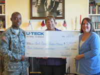 U-TECK Donates $5K to Fisher House