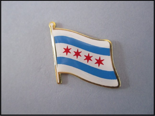 Chicago Flag Lapel Pin