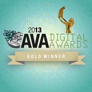 2013 AVA Digital Award Gold