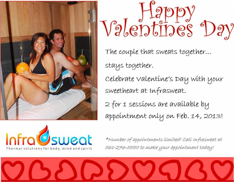 Infrasweat offers Valentine's Day special