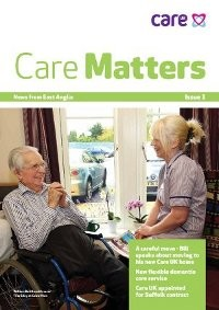 The front page of the first edition of Care Matters.