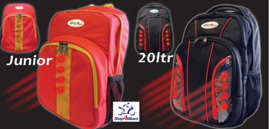 Shop4bikers backpacks with led lights