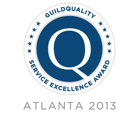 GuildQuality - Atlanta Service Excellence Award 2013