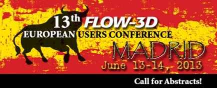 Call for abstracts at the 13th FLOW-3D European Users Conference