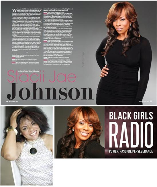 Stacii Jae Johnson, Host, Black Girls Radio WAEC 860 AM Atlanta w/Jamie Foster