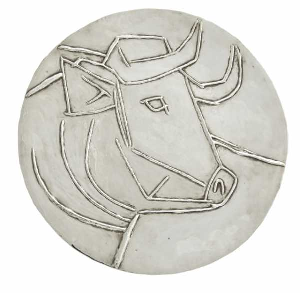 Silver plate by Pablo Picasso