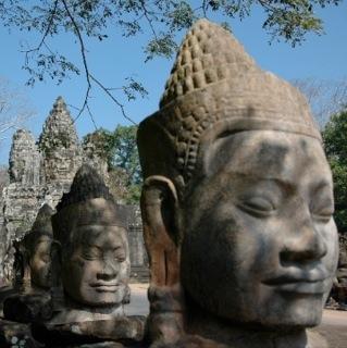 Entry Bayon, Angkor, Cambodia
