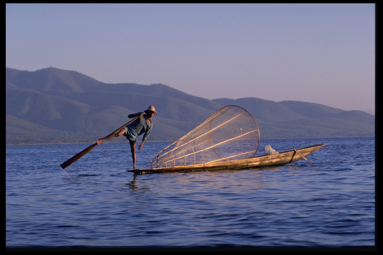 """Leg Rower"" At Inle Lake, Myanmar (Burma)"