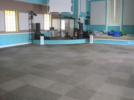 New carpet tile installed in youth center