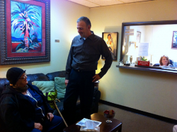 Tammy McCormack (right) remains busy as more walk-in clients visit Legacy.