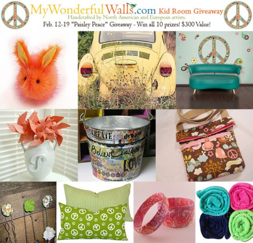 Paisley Peace Kid Room Giveaway by My Wonderful Walls